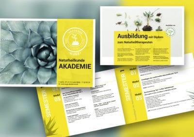 Portfolio Broschüre Akademie