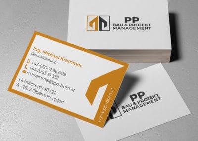 Visitenkarten PP Bau