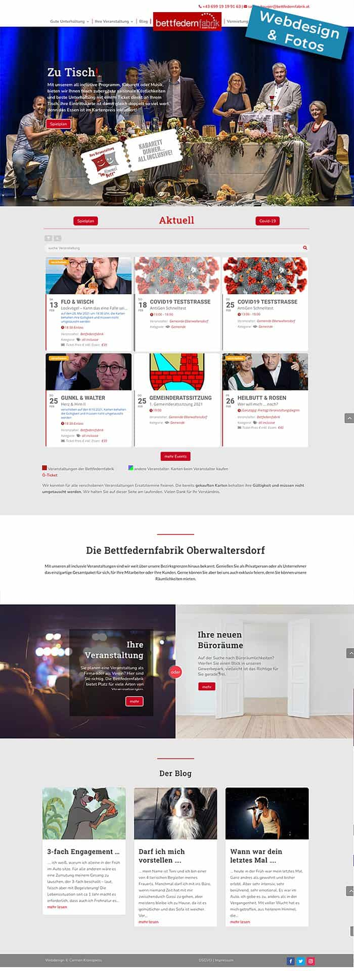 Website Bettfedernfabrik