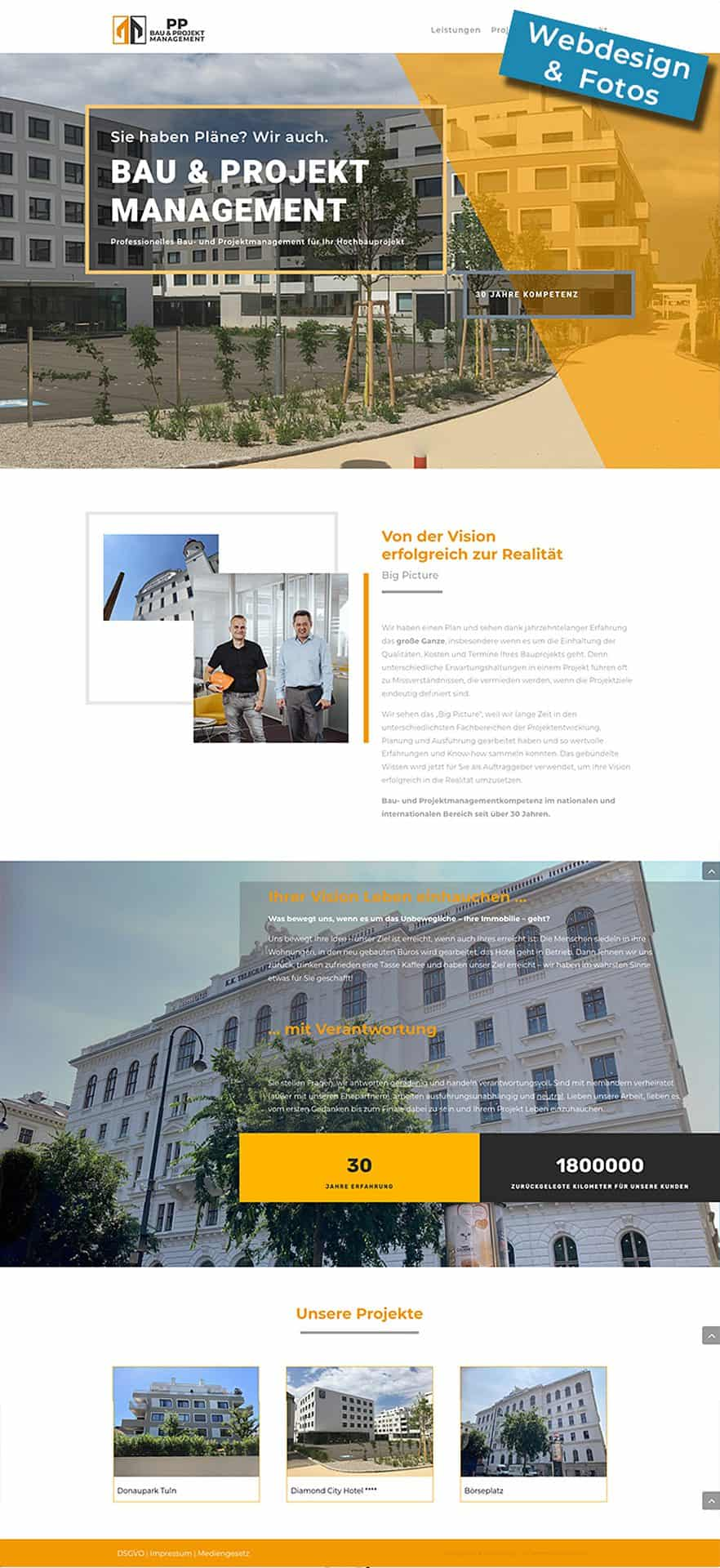 Website PP-Bau und Projektmanagement